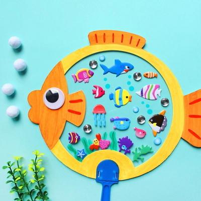 물고기부채 5set
