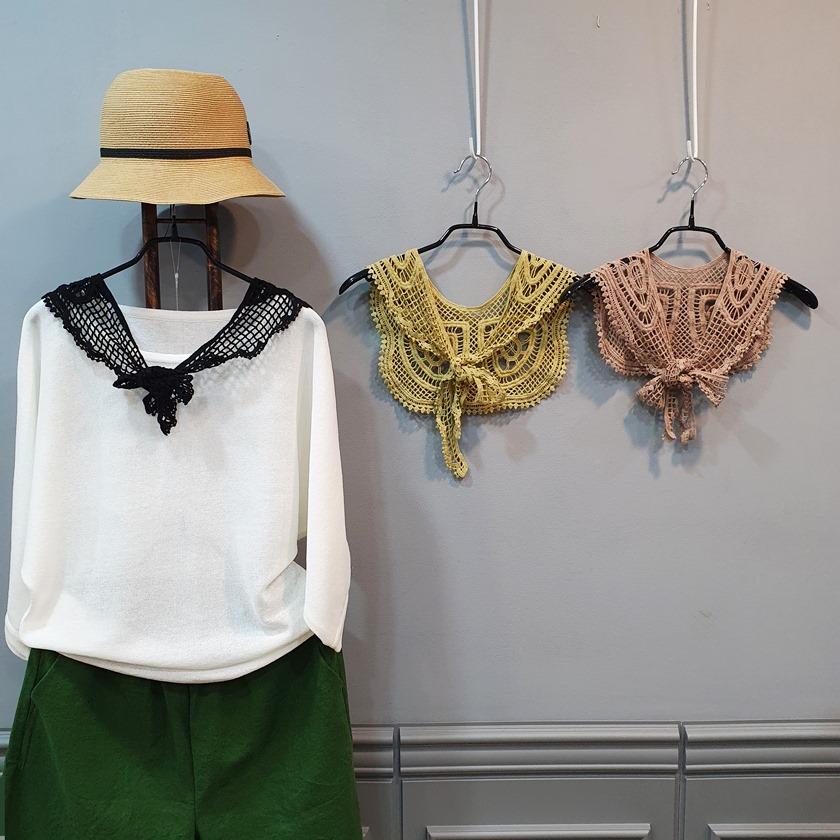 망사 레이스 여름 니트 포인트 케이프(5종) - 돌체오라, 9,900원, 상의, 니트/스웨터