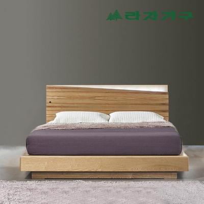 터니오 무늬목 LED조명 침대 퀸Q