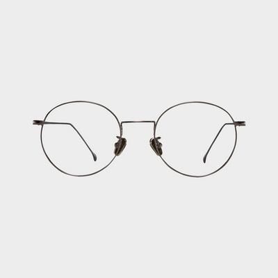 YN01-1 gray 안경테 반뿔테 무광 피팅 가게 둥근