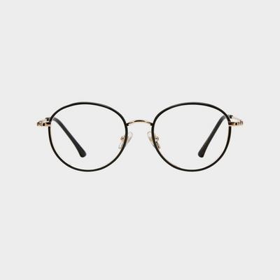 LENA gold-black 안경테 안경점 무광 반뿔테