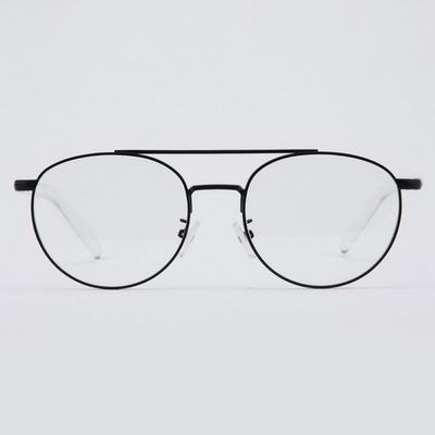 IRIS black-crystal 안경테 무광 반뿔테 몰