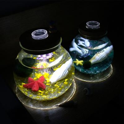 불켜지는병-원형라이팅(대) 마리모 DIY 세트