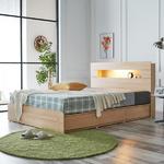로아 LED 헤드수납 서랍형 침대 Q