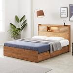 프레시 고무나무원목 LED 3서랍 침대 Q