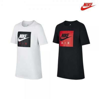나이키 NSW 에어 로고 반팔 티셔츠 화이트,블랙