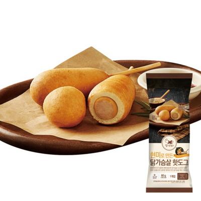 (헬스앤뷰티) 현미로 만든 닭가슴살핫도그 10팩