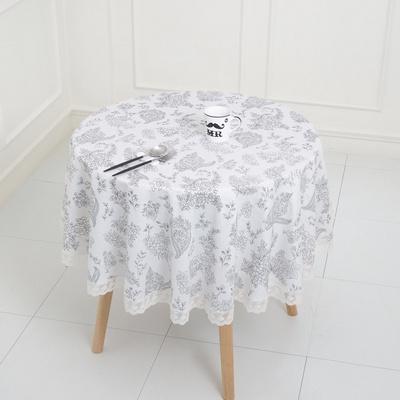 레이스원형식탁보 - 원탁크기80cm용