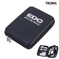 트로이카 EDC CASE 여행용 디지털 파우치 블랙실버 (CBO12BS)